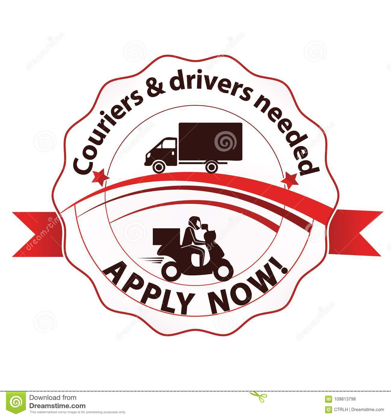 image regarding Now Hiring Sign Printable titled We Are Choosing, Couriers And Motorists Sought after - Printable Stamp