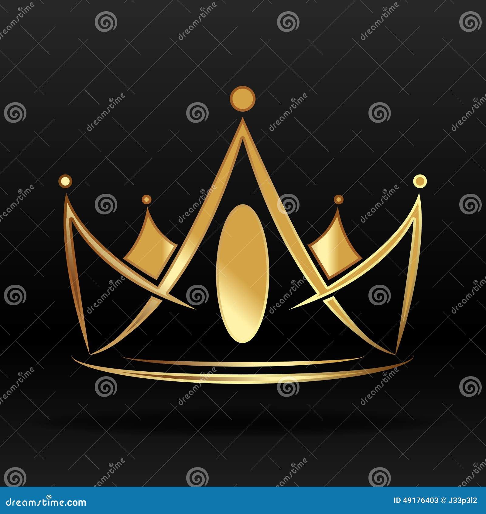Couronne d or pour le logo et la conception