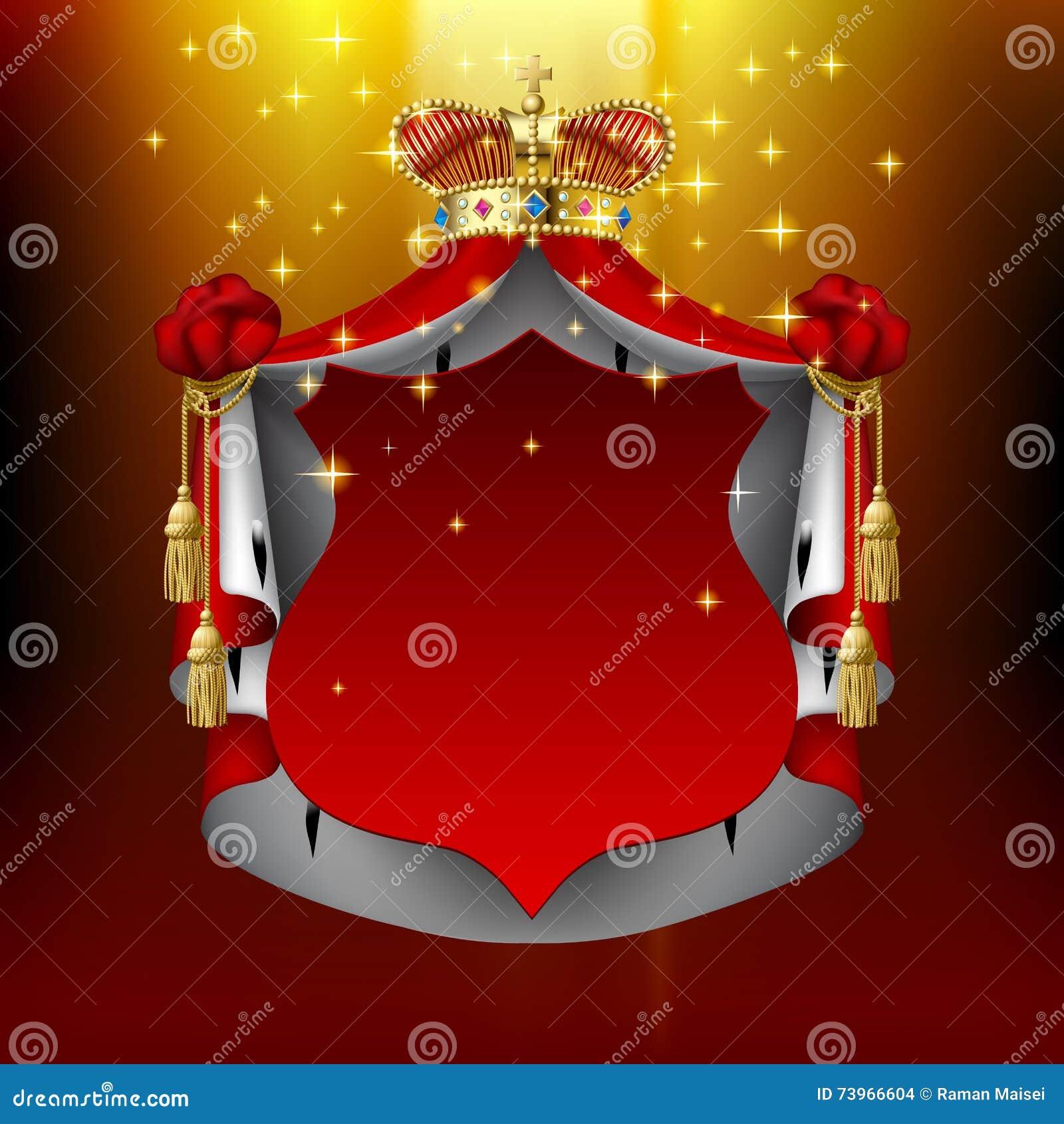 4a7c9b7c45b Couronne Royale Lumineuse De Manteau Et D or Avec L enseigne Rouge ...