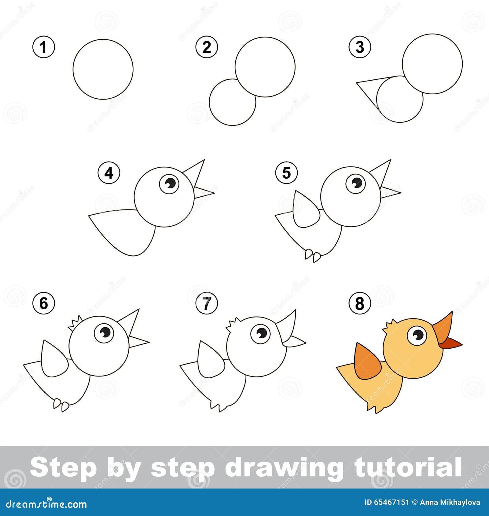 Cours de dessin comment dessiner un oiseau illustration de for Comment dessiner des conceptions architecturales