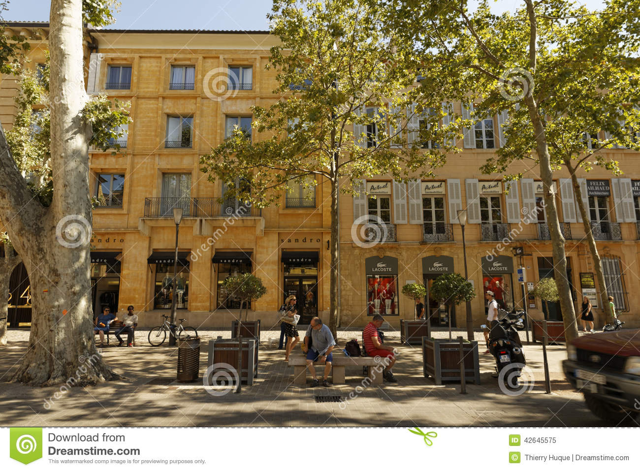 cours mirabeau aix en provence image ditorial. Black Bedroom Furniture Sets. Home Design Ideas