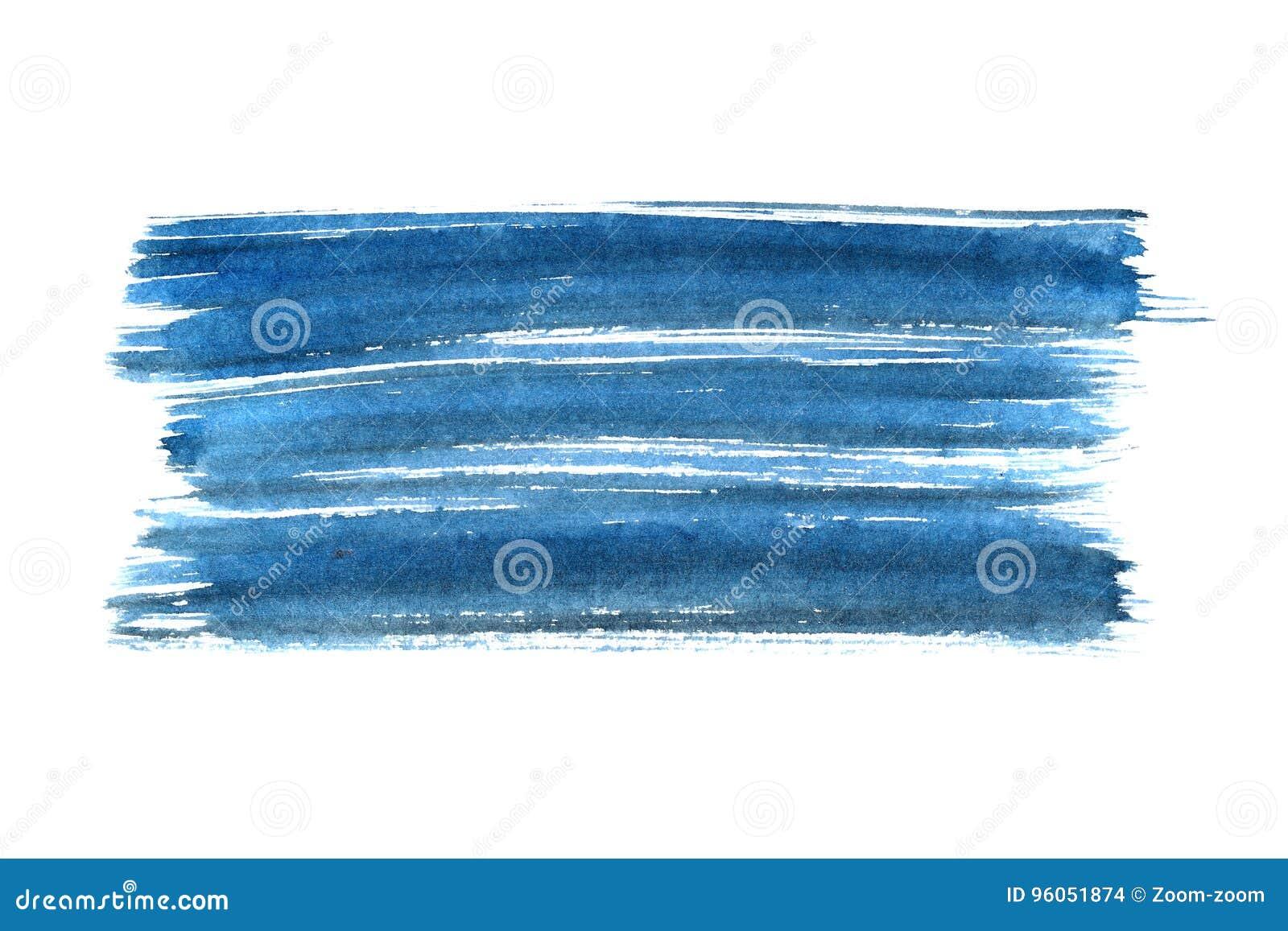Course de brosse d encre bleue