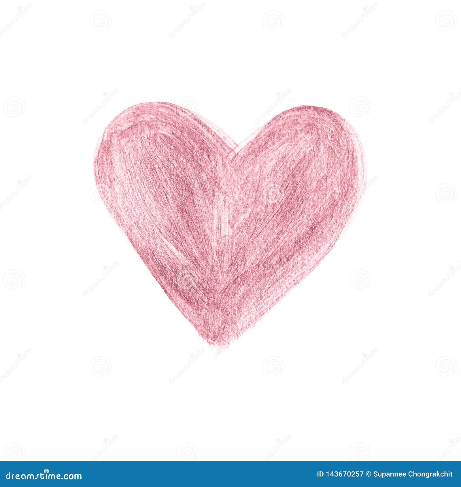 Course de brosse d or de Rose tir?e par la main Vecteur de correction d aquarelle de coeur