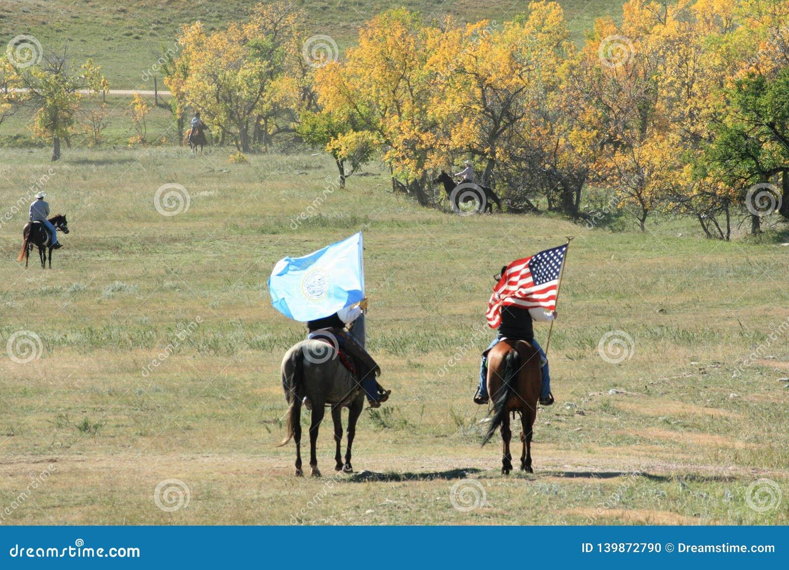 Course de Buffalo, Custer, le Dakota du Sud
