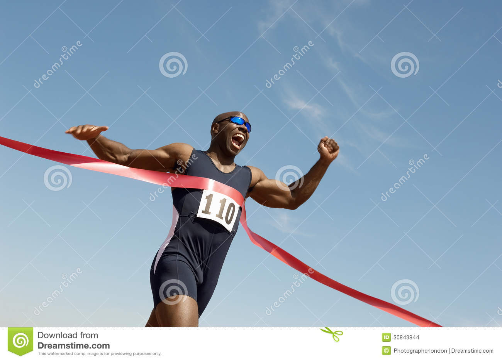 Course de gain de coureur masculin
