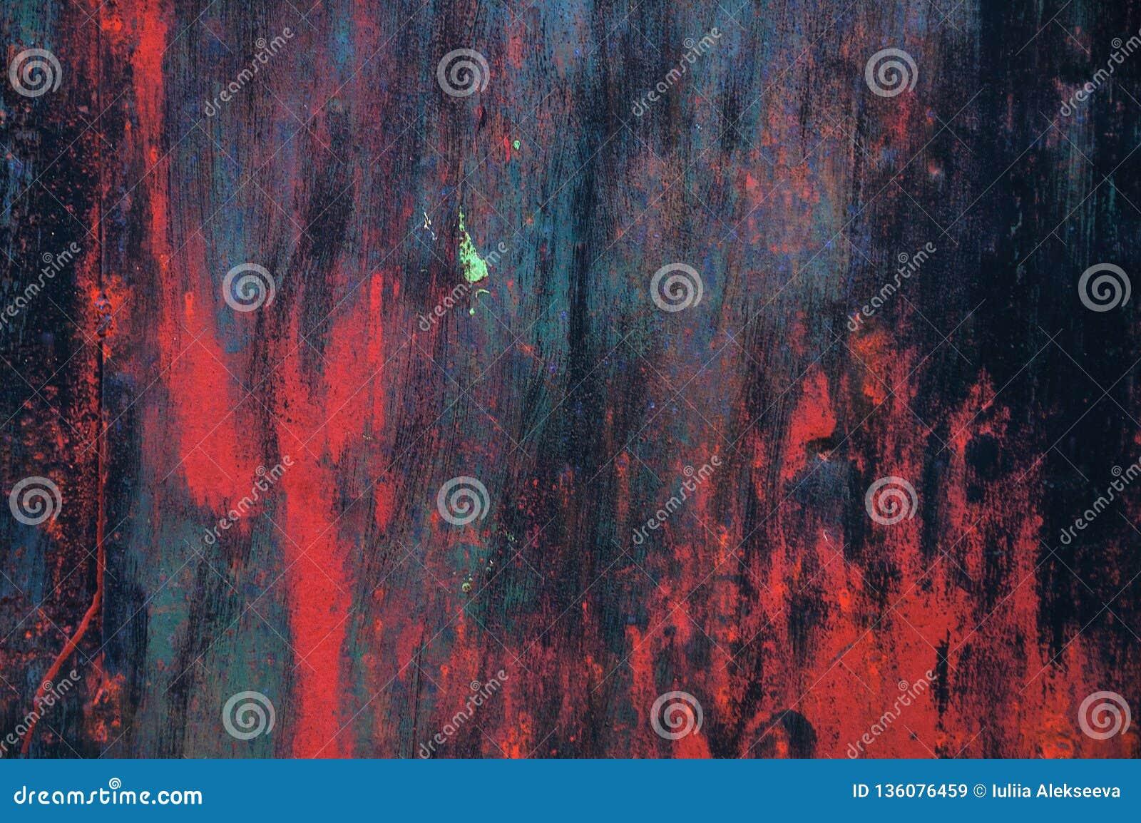 Courses abstraites de brosse de texture multicolore Courses rouge foncé de brosse de fond
