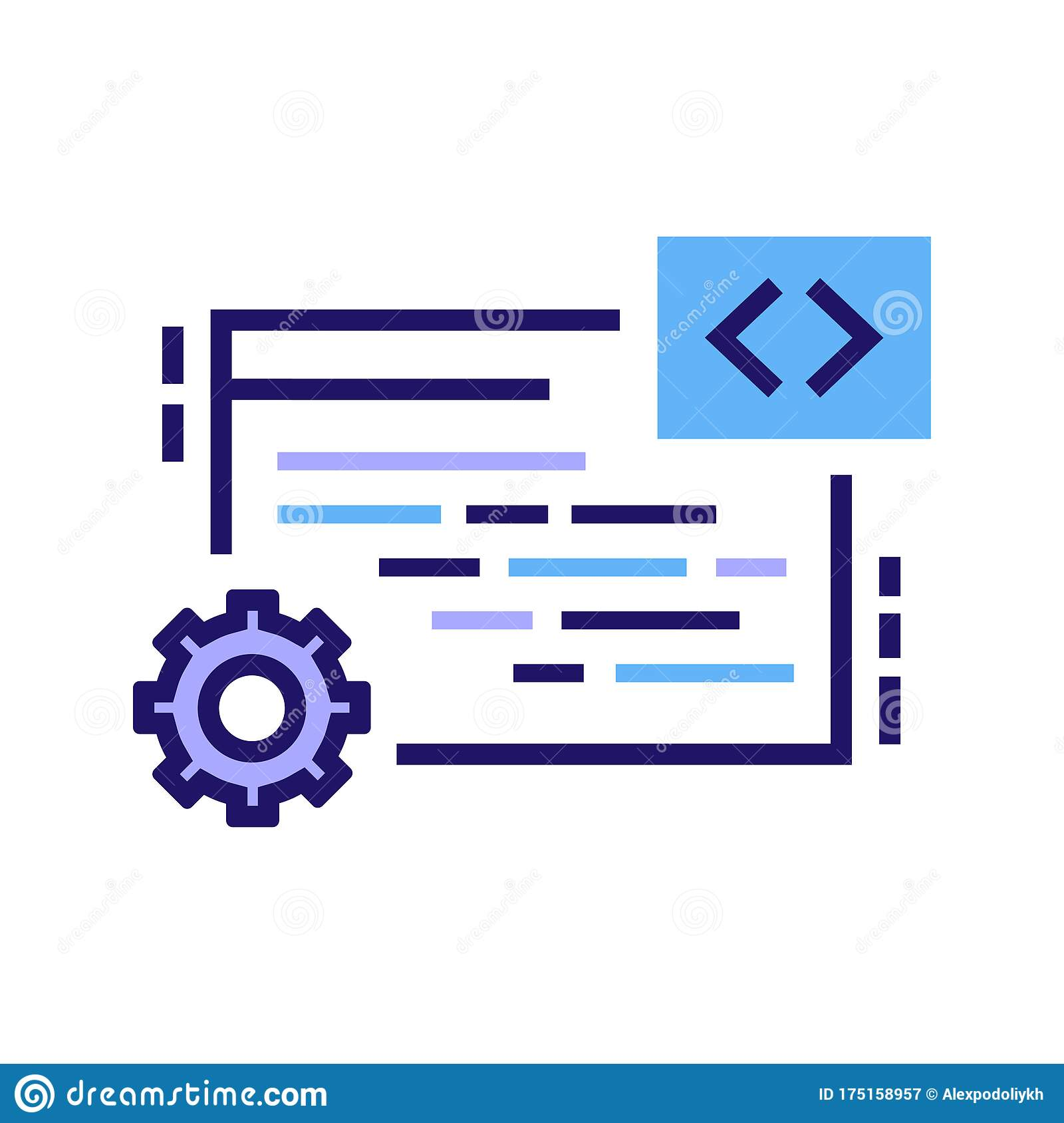 It Courses Color Line Icon Programming Coding Learning Software Development E Learning Pictogram For Web Page Mobile App Ui Stock Vector Illustration Of Digital Coding 175158957