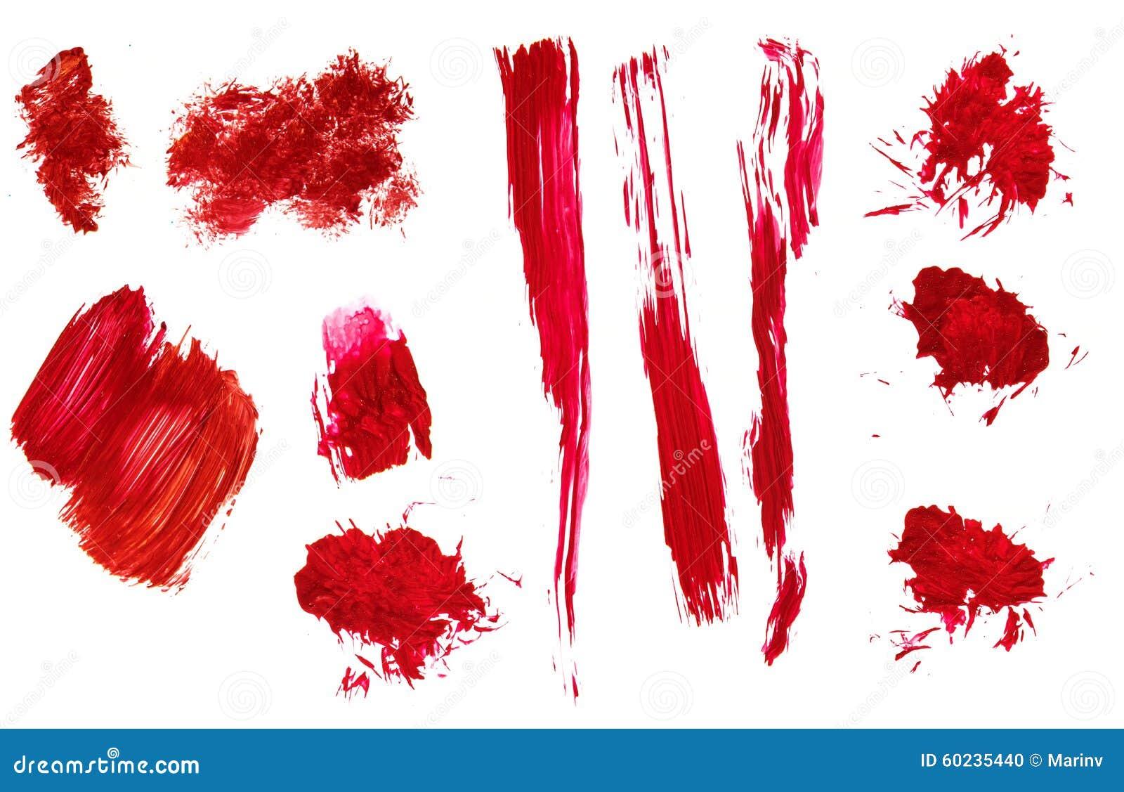 Courses et éclaboussure acryliques peintes à la main abstraites rouges de brosse