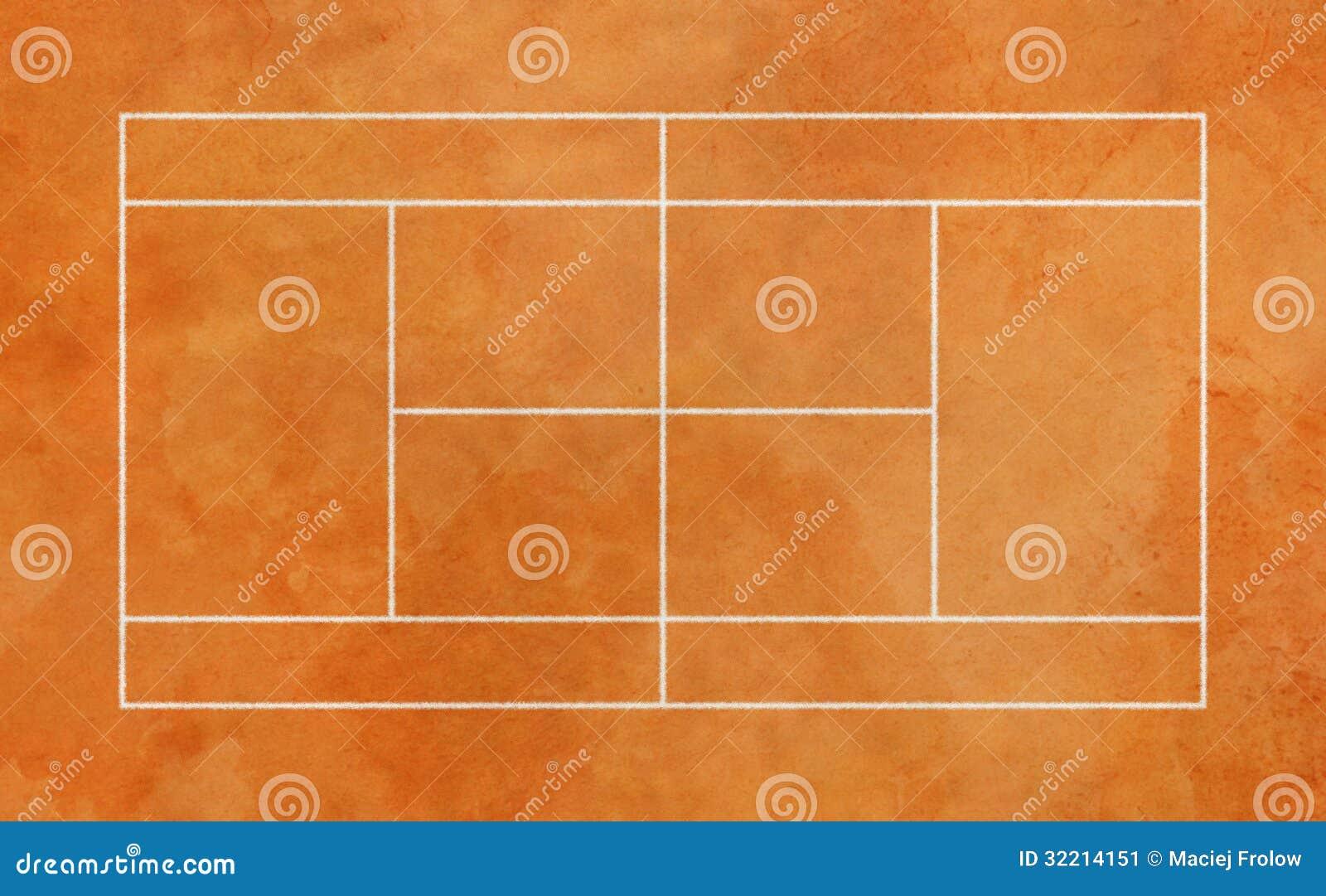 Court de tennis d 39 argile image stock image 32214151 for Prix d un court de tennis