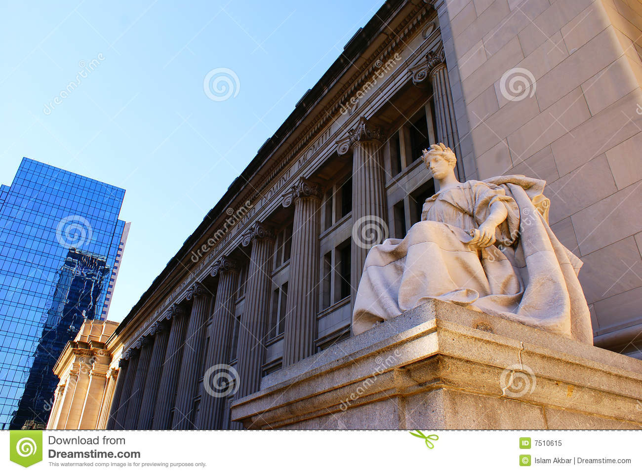 Court House And Post Office Royalty Free Stock Photo