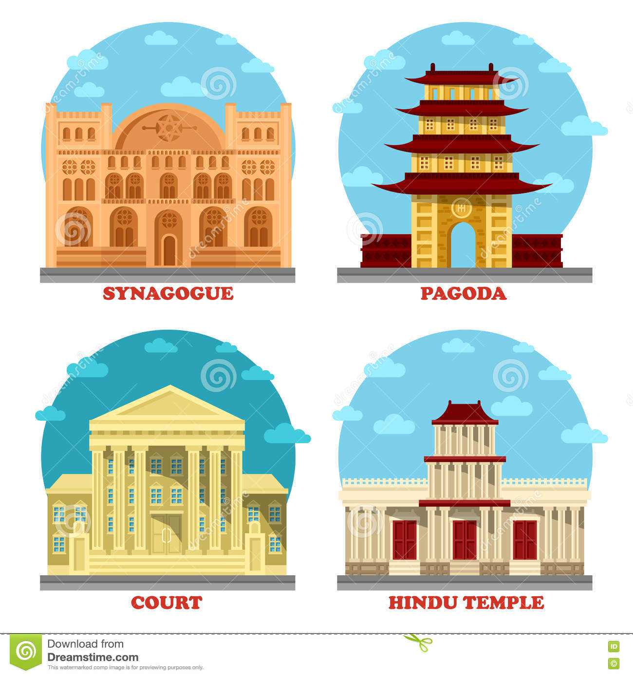 Court of law and religion temple pagoda stock vector court of law and religion temple pagoda biocorpaavc Gallery
