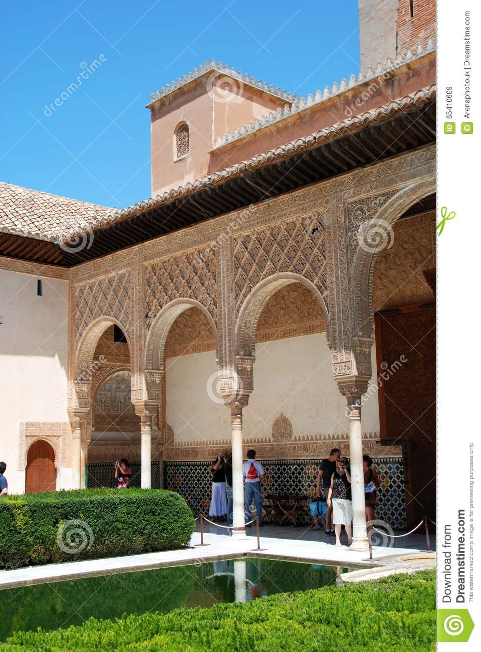 : Court Of The Myrtles (Patio De Los Arrayanes) In Day Time At A Editorial Im...