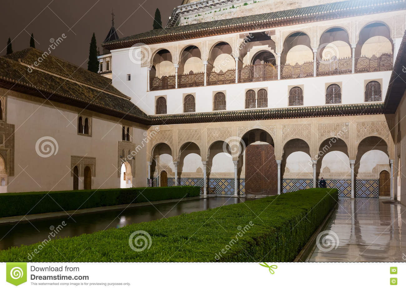 Court Of The Myrtles (Patio De Los Arrayanes), Alhambra Stock Photo - Image: ...