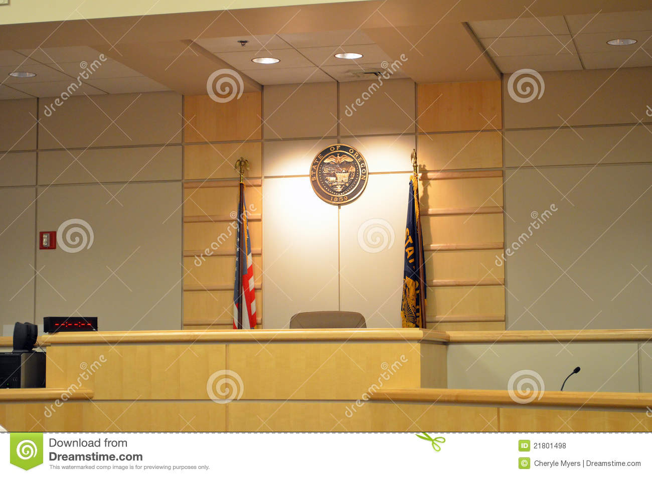 Oregon court room