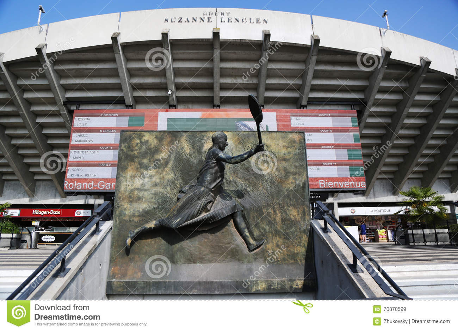 Court Suzanne Lenglen At Le Stade Roland Garros During Roland