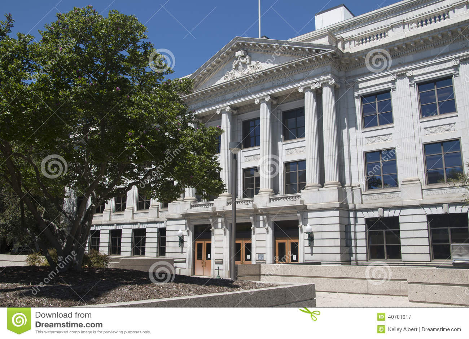 Courthouse In Greensboro, NC (North Carolina) Stock Image