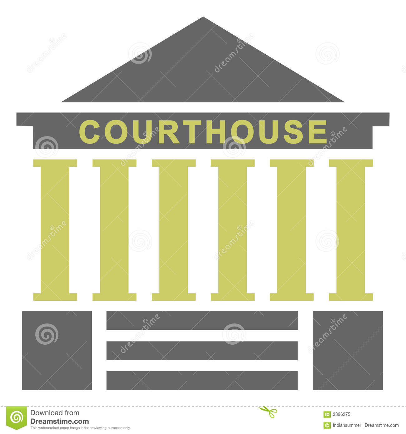 Only Metaphor >> Courthouse illustration stock illustration. Image of poster - 3396275