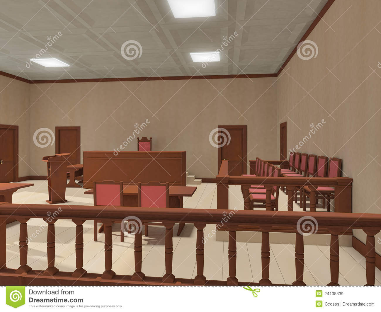 Courtroom With People Clipart Courtroom