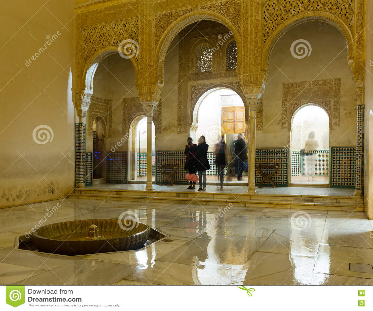 Courtyard of gold room at comares palace alhambra for Alhambra decoration