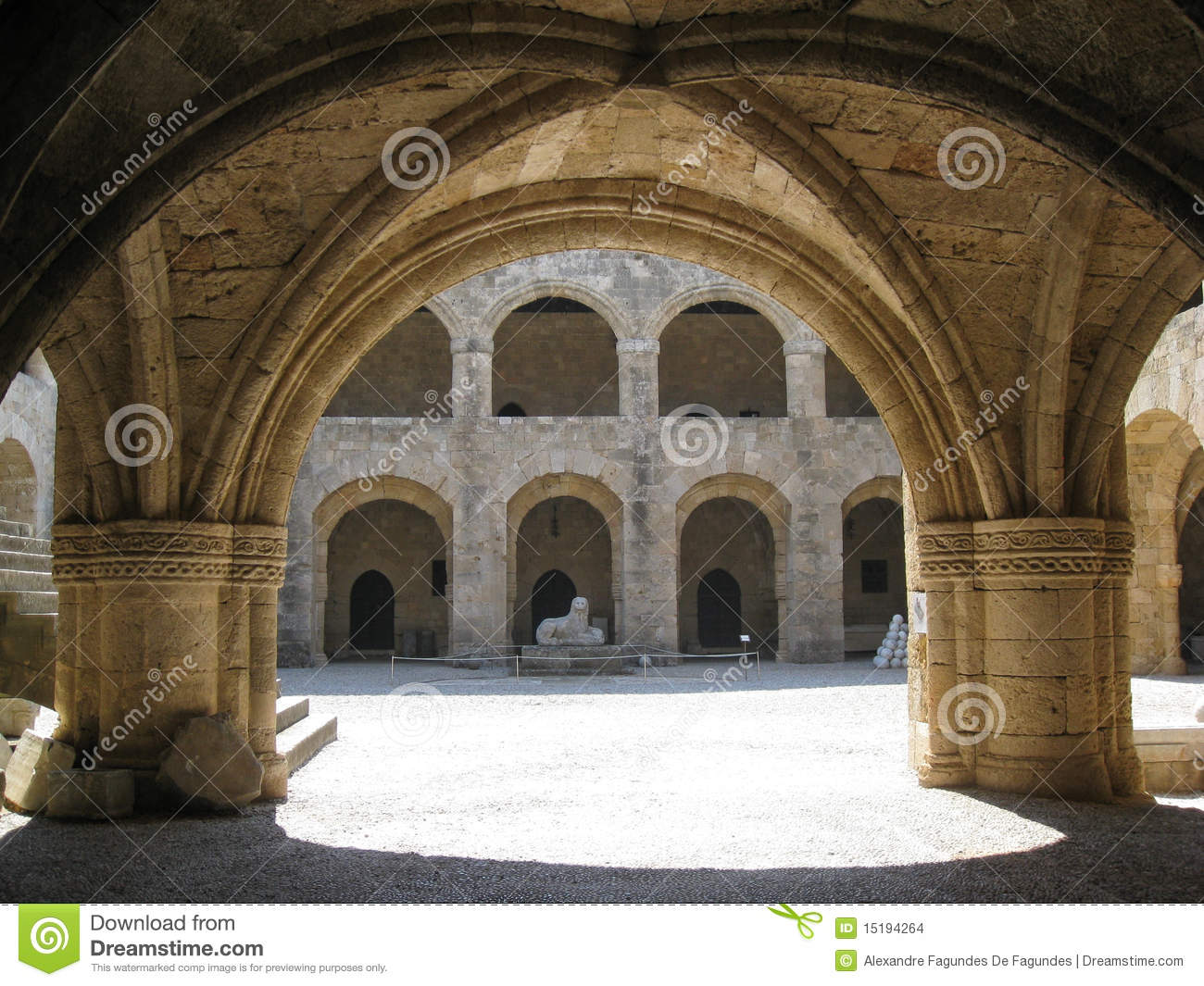 Courtyard Knights Hospital Rhodes Island Stock Images ...