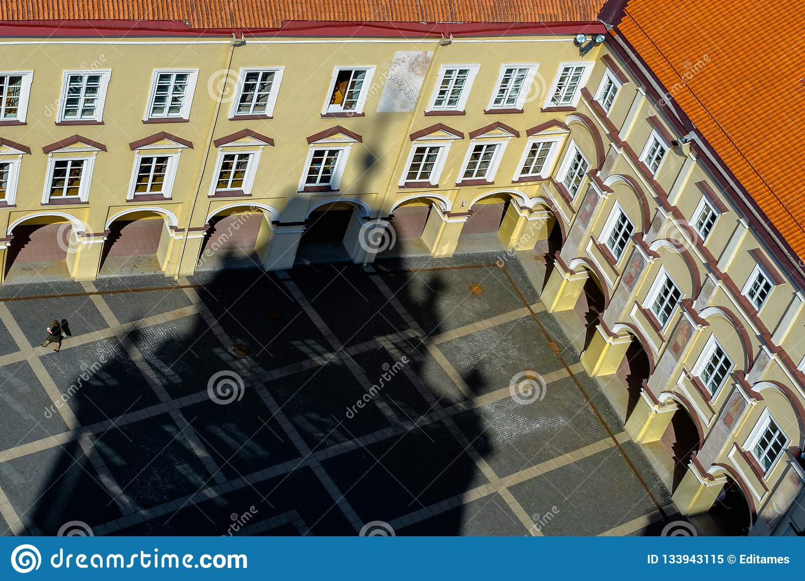 The courtyard of the old building of Vilnius University