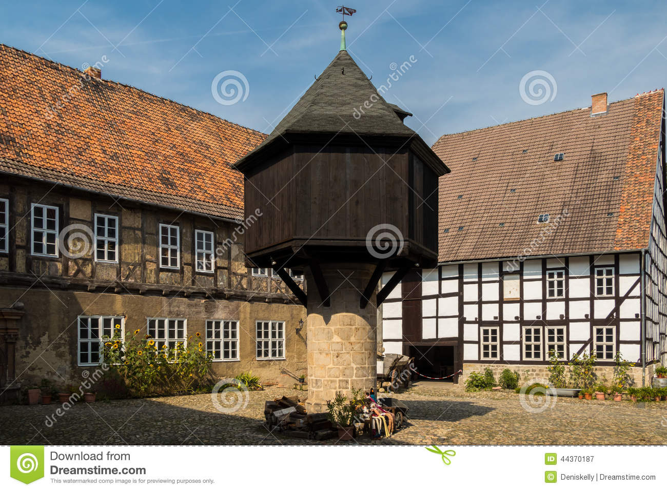 Medieval Mansion Courtyard Dovecote Stock Photo Image