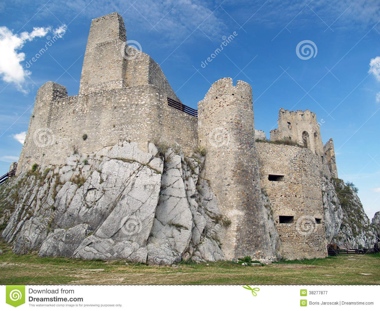Courtyard and ruin of the Castle of Beckov