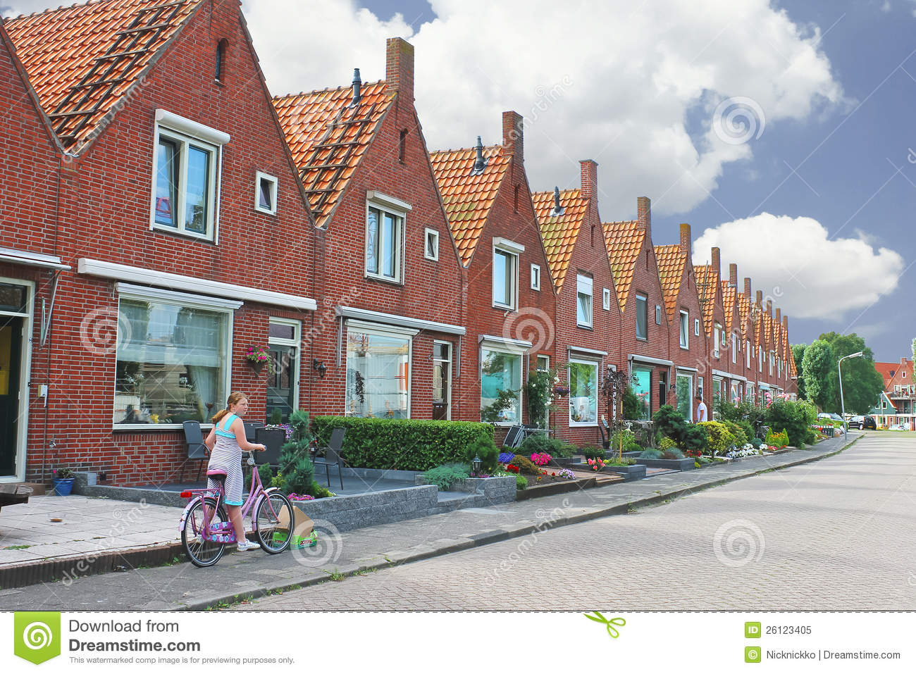 In the courtyard of a typical dutch house editorial image for Dutch house