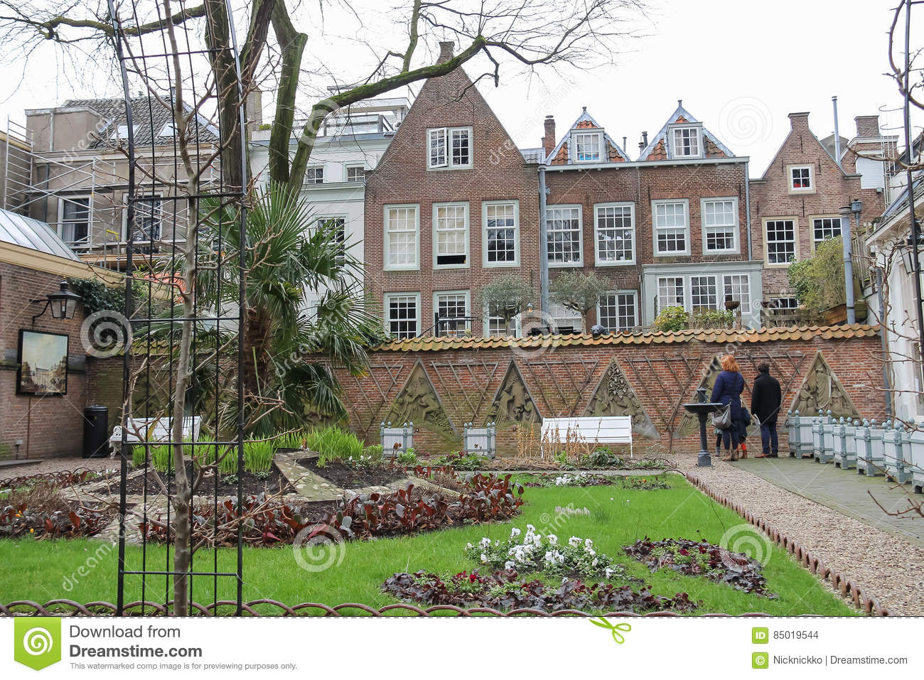 Courtyard Of Utrecht University In Historic City Centre The