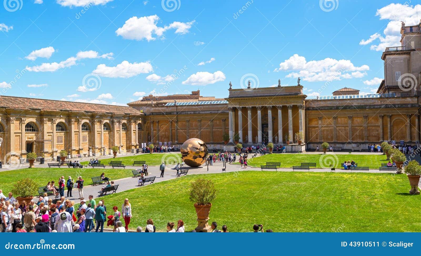 The courtyard of Vatican Museum
