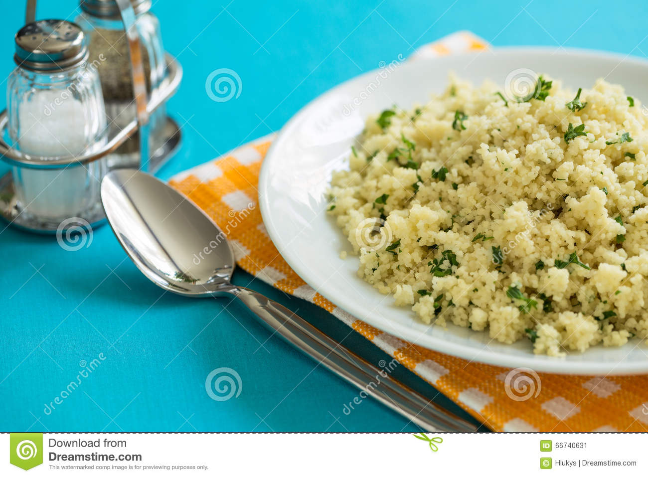Couscous with parsley stock photo image 66740631 for Side dish with fish