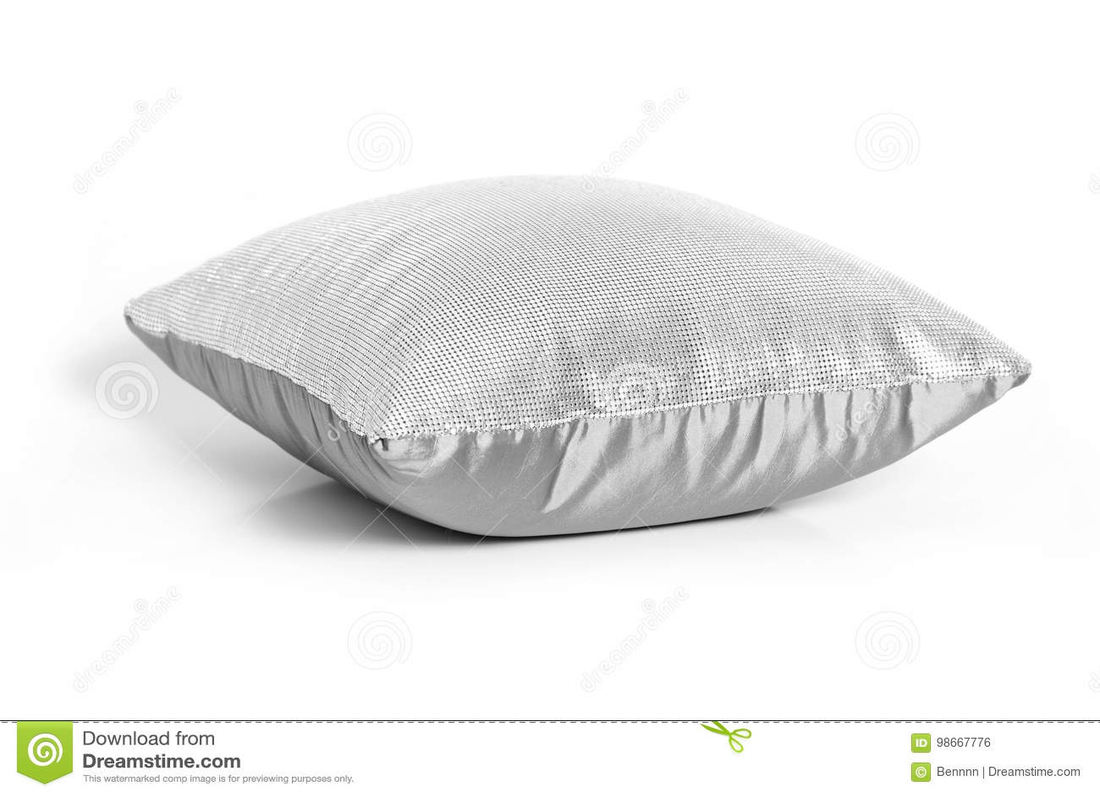 Coussin gris sur le blanc