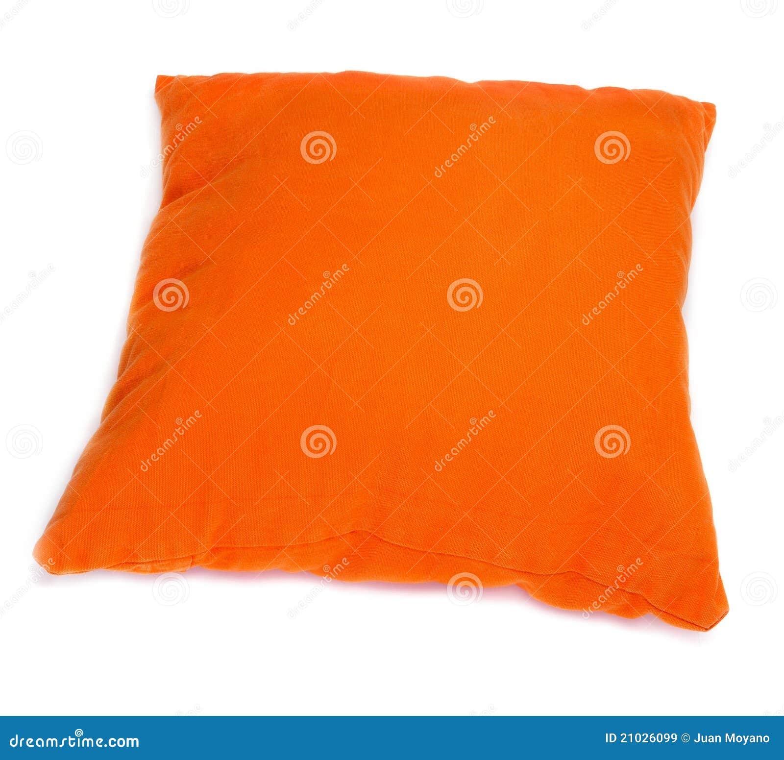 coussin orange image stock image du si ge d coratif. Black Bedroom Furniture Sets. Home Design Ideas