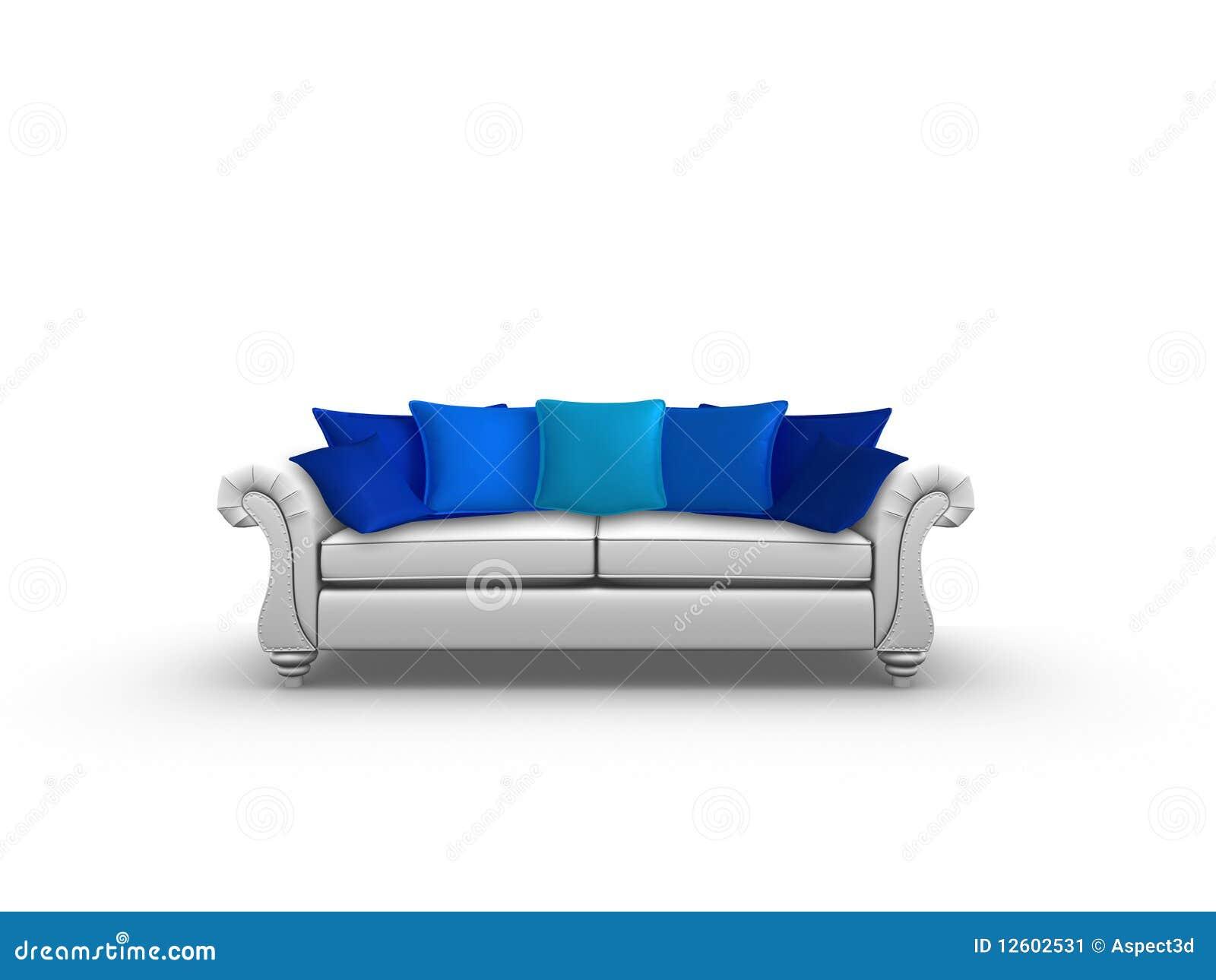 coussins bleus illustration stock illustration du cuir. Black Bedroom Furniture Sets. Home Design Ideas