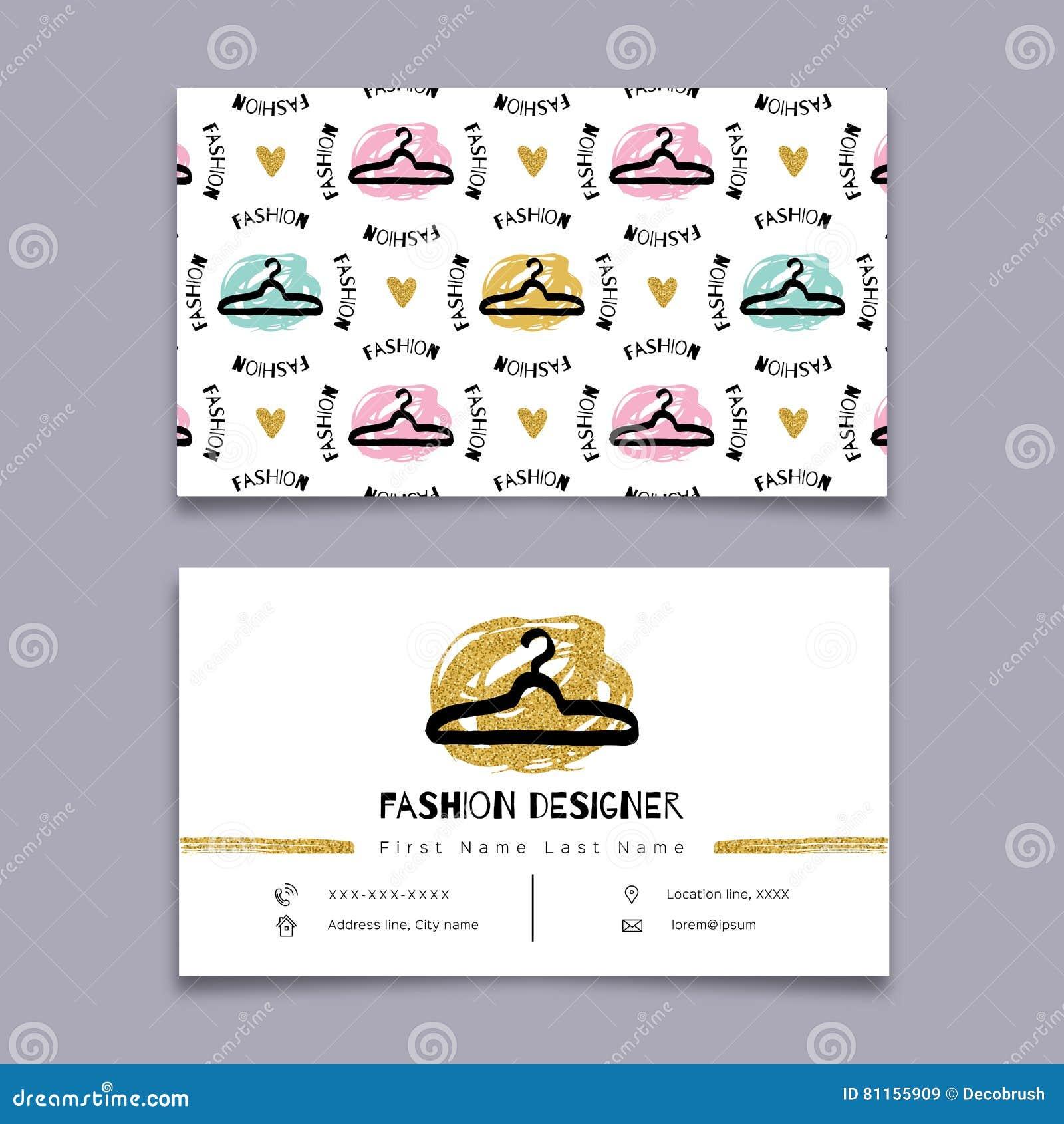 Carte De Visite Professionnelle Couturier Styliste Conception Minimale Hippie Moderne Marqueur Graphiques Vecteur Tire Par La Main
