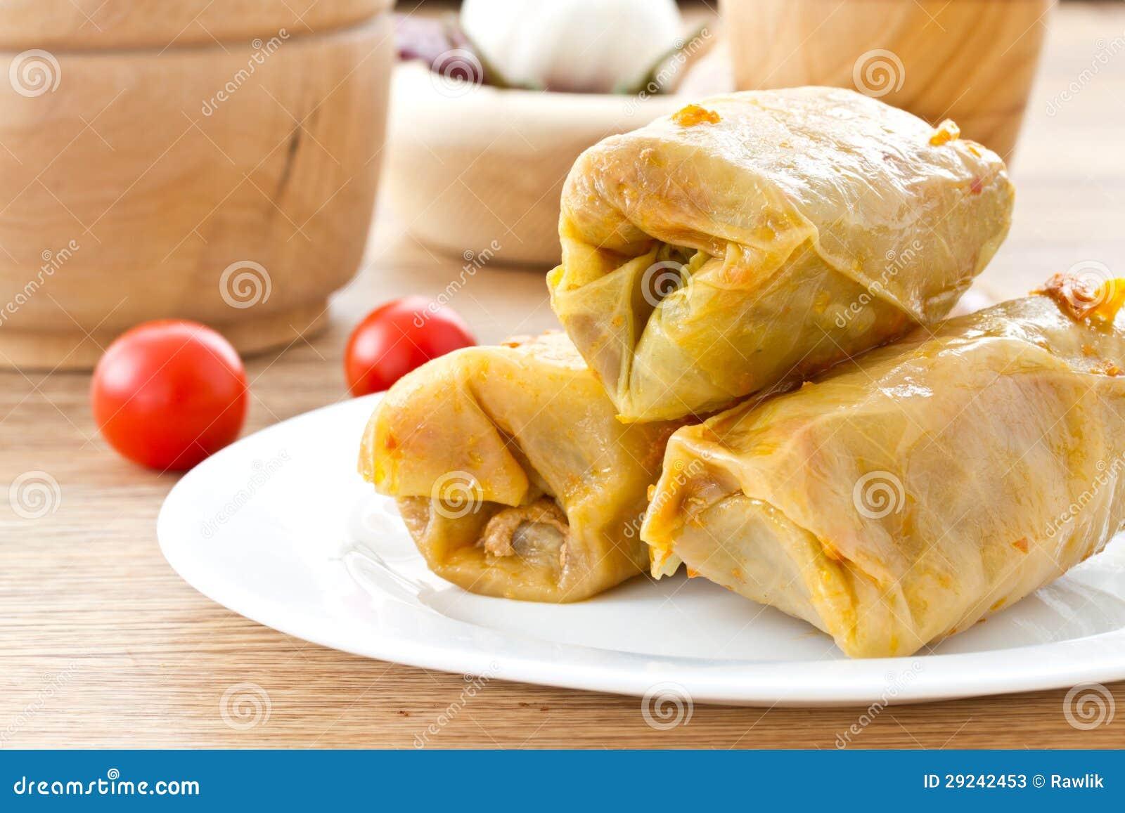Download Couve enchida com carne imagem de stock. Imagem de cuisine - 29242453