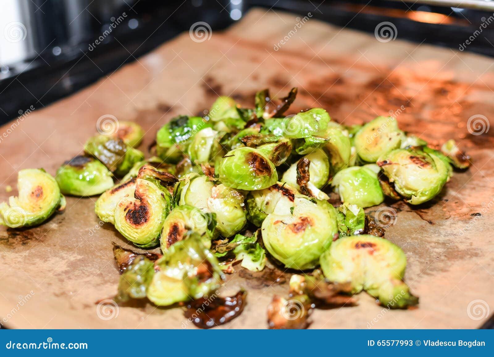 Couve fritada de Bruxelas