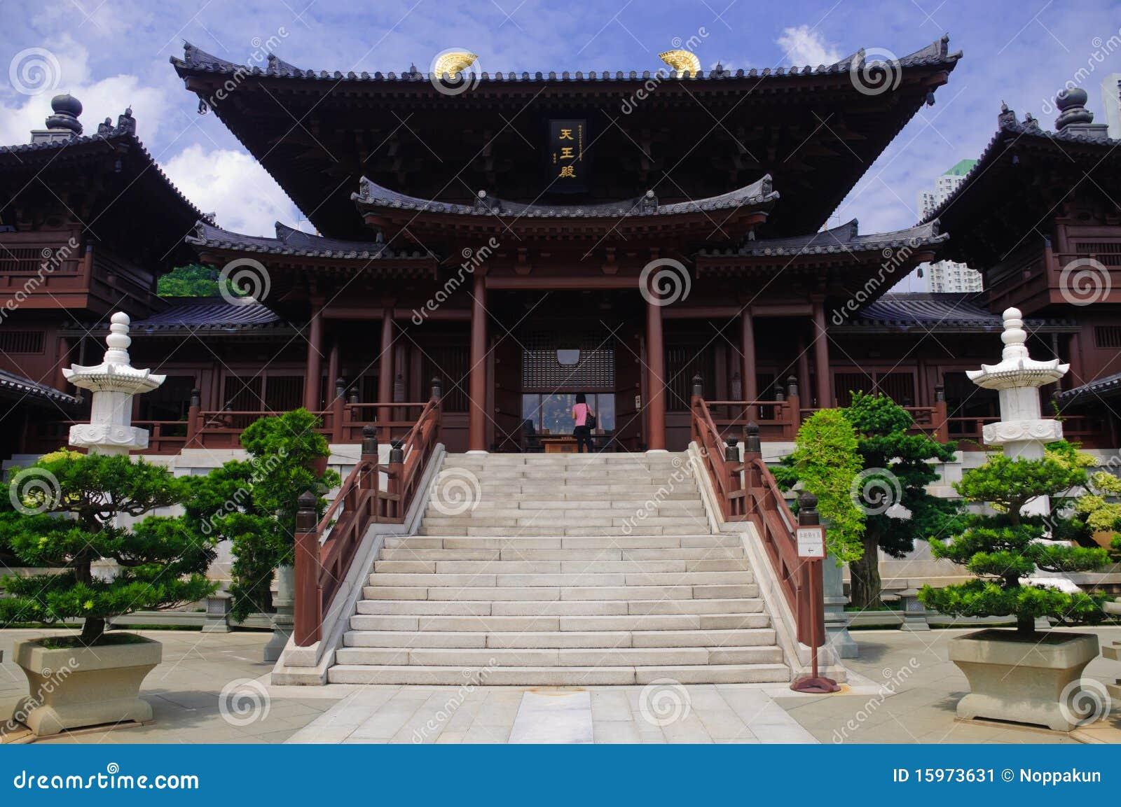 Couvent de lin de Chi, temple de Chinois de type de dynastie de patte