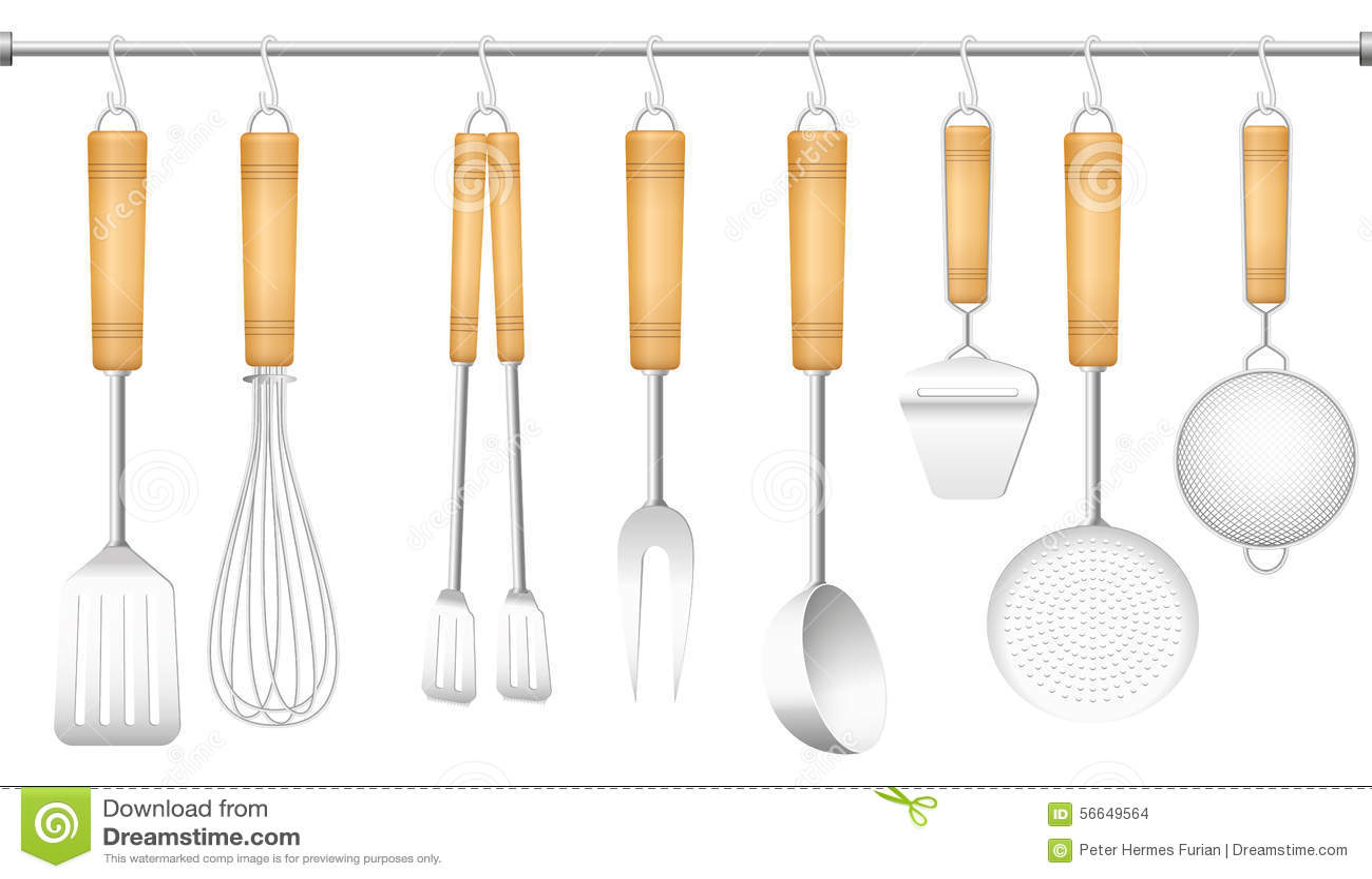 Couverts de cintre d 39 outil de cuisine illustration de vecteur illustration du armoire m nage - Outil de cuisine liste ...