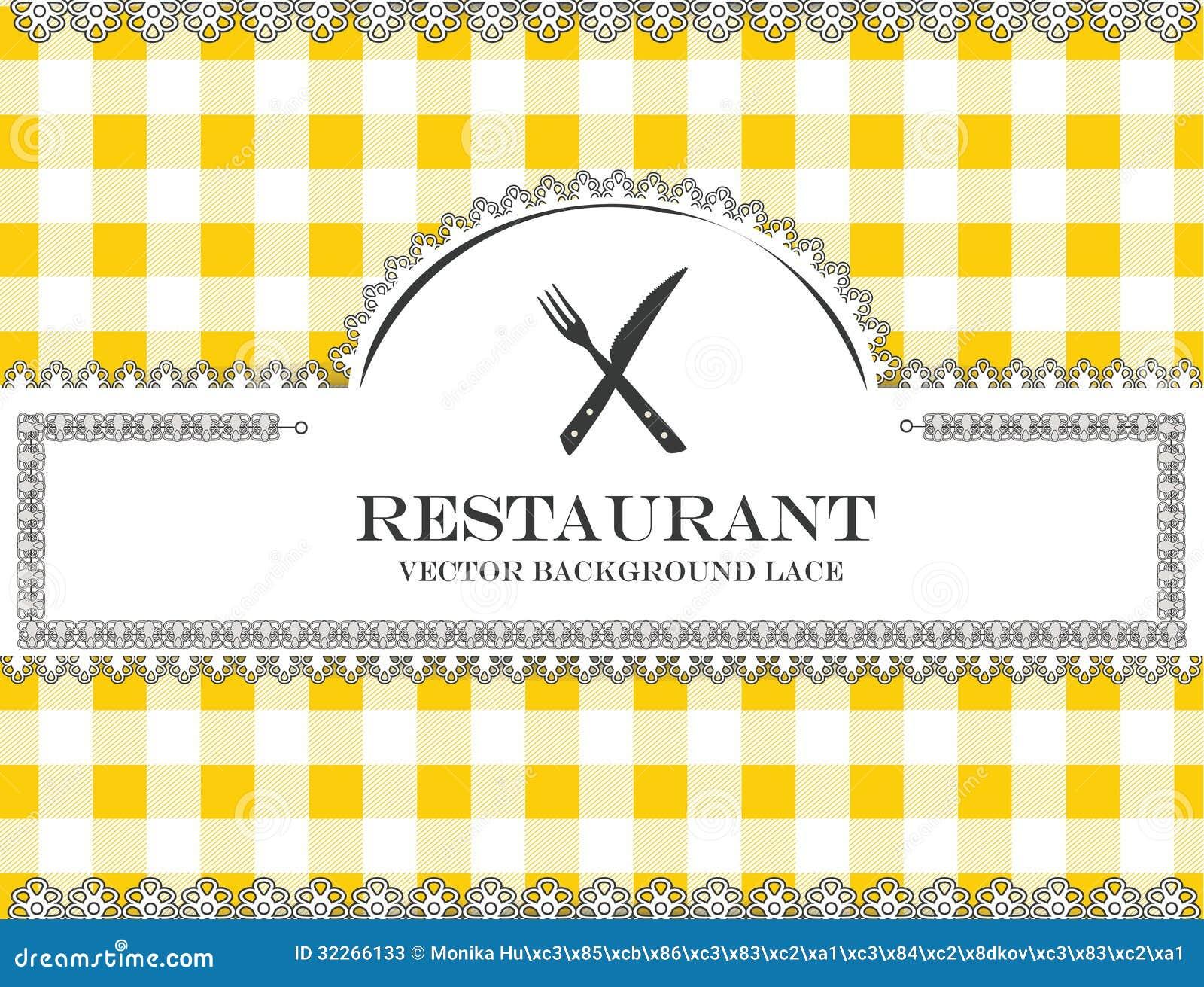 Couverts de restaurant de menu de dentelle de tableau noir for Tableau noir restaurant