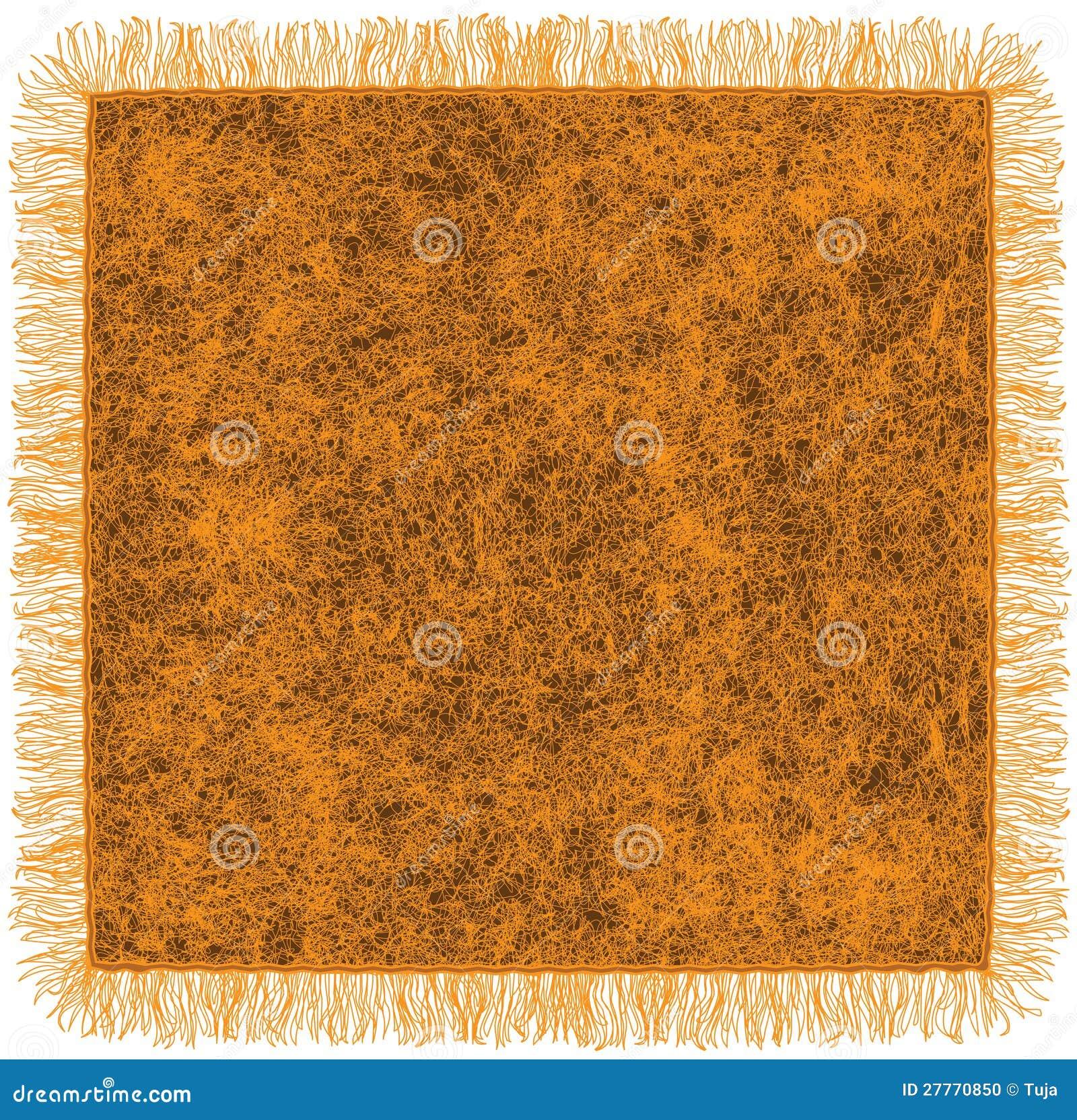 Couverture orange de laine avec la frange