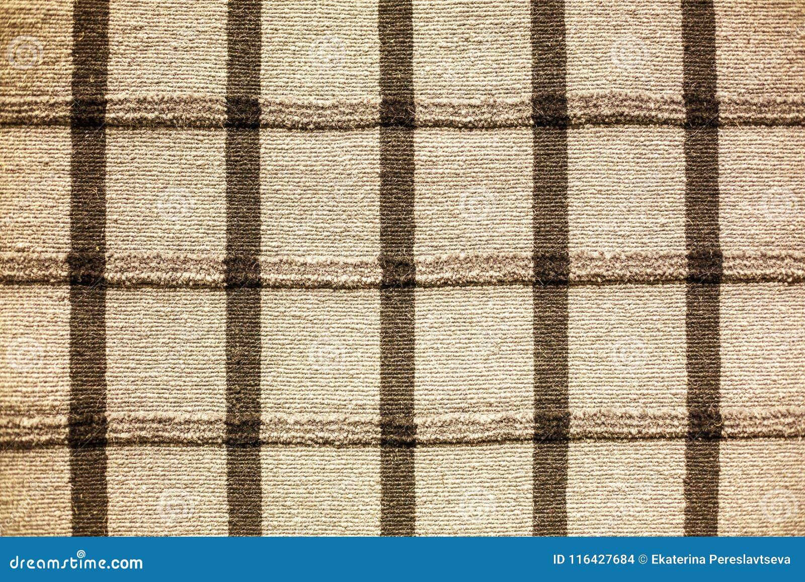 Couverture rayée d armure épaisse sur le plancher