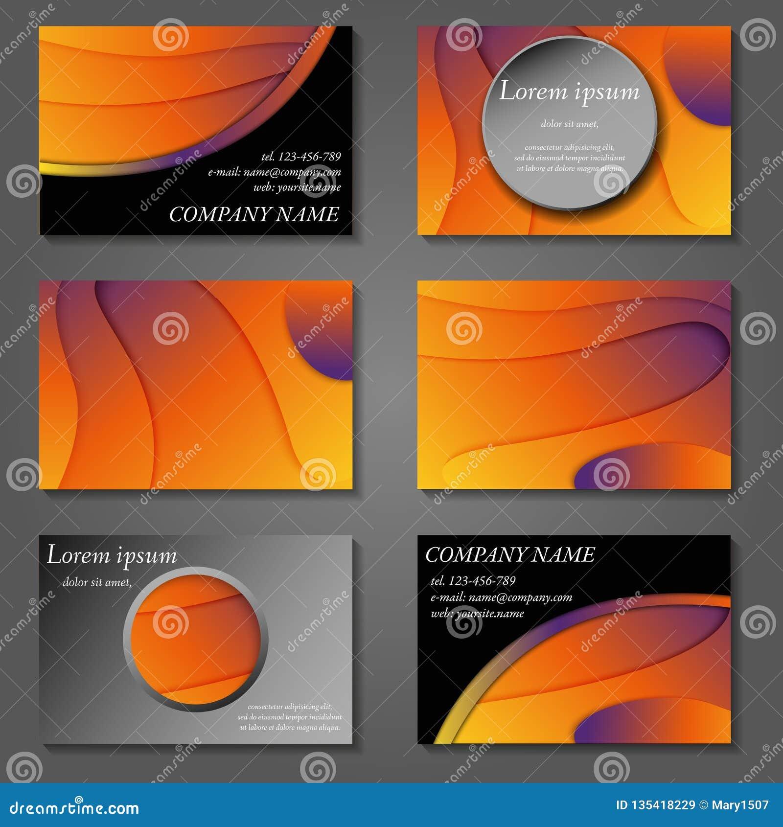 Couvertures minimales de vecteur réglées Future conception à la mode géométrique de gradient