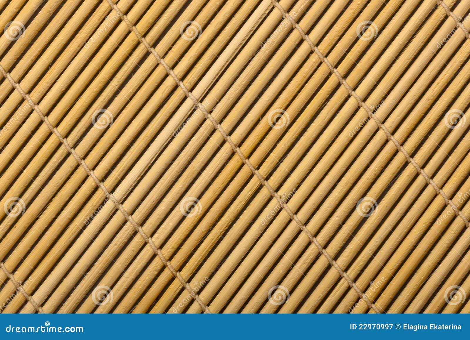 Couvre tapis en bambou photographie stock libre de droits image 22970997 - Tapis en bambou noir ...
