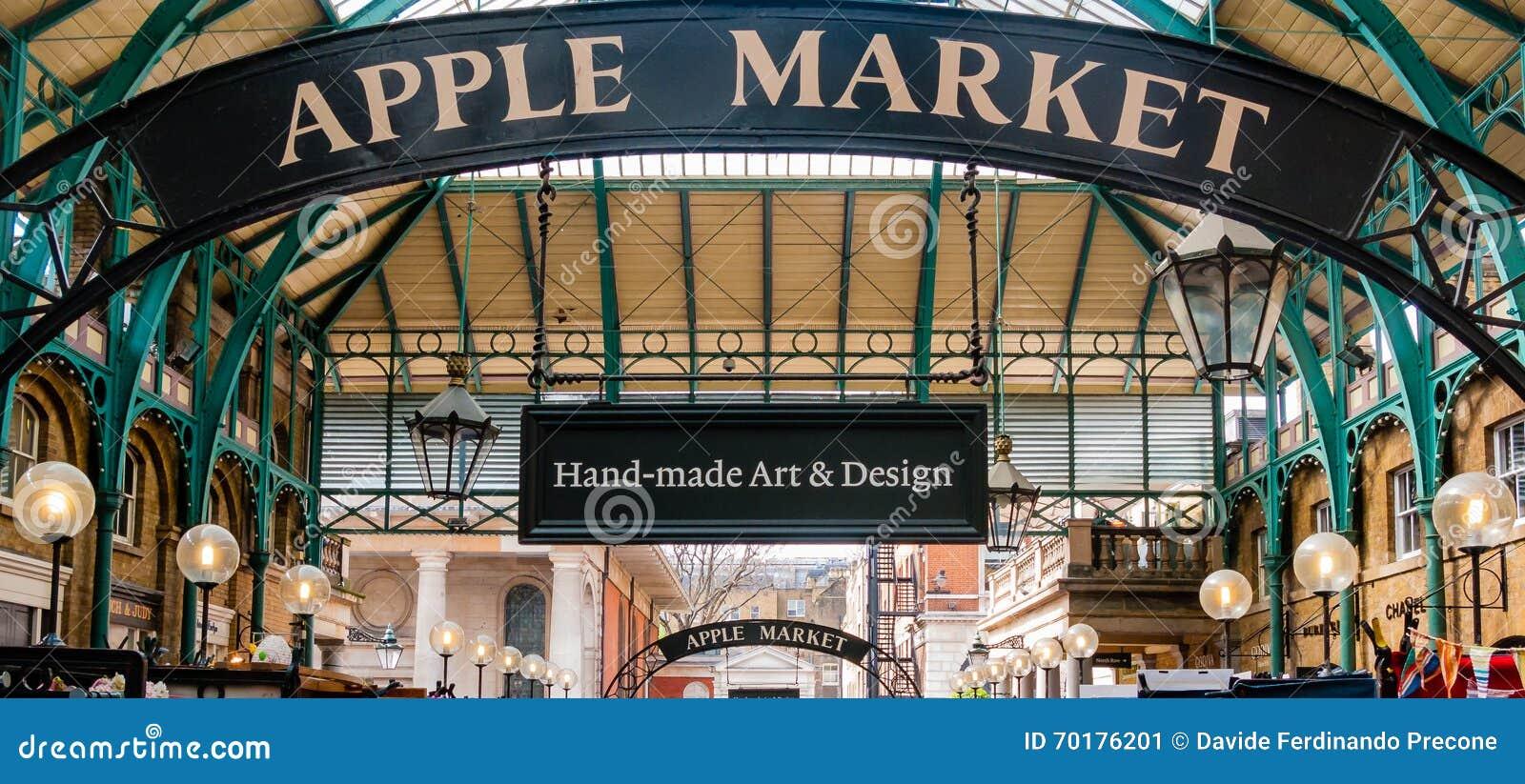 Covent trädgårds- marknad för äpple