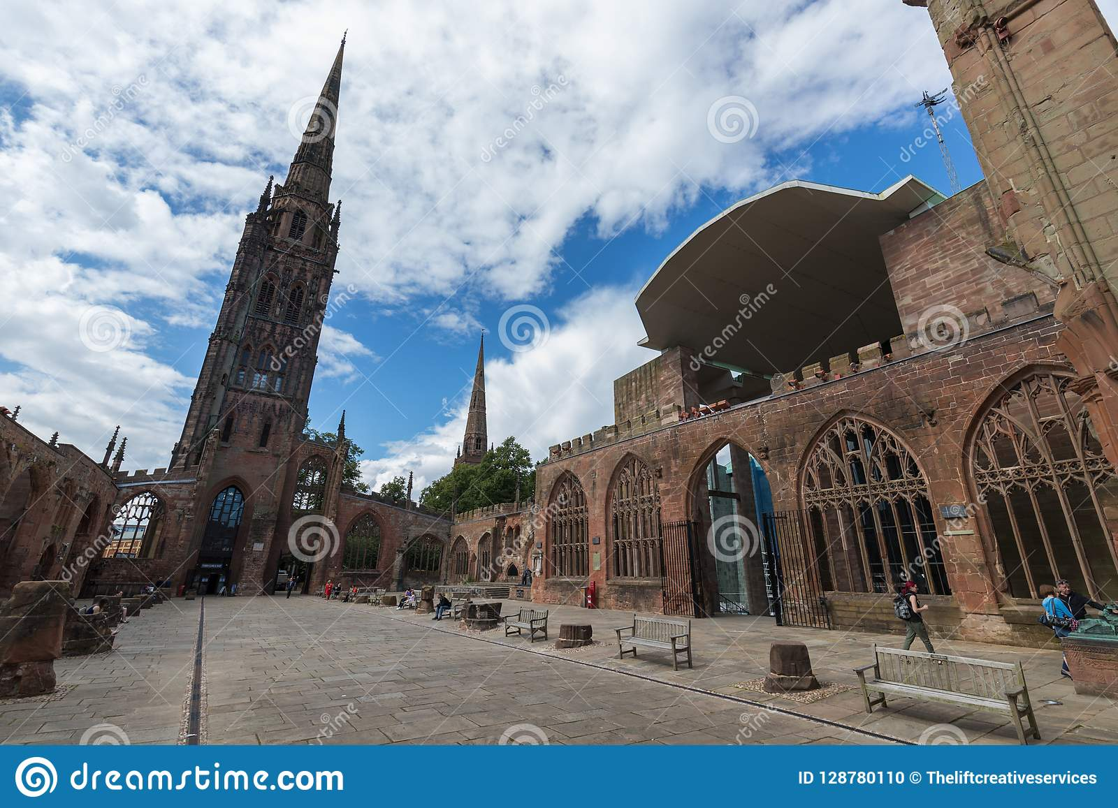 Coventry Cathedral Church Ruins in Coventry UK