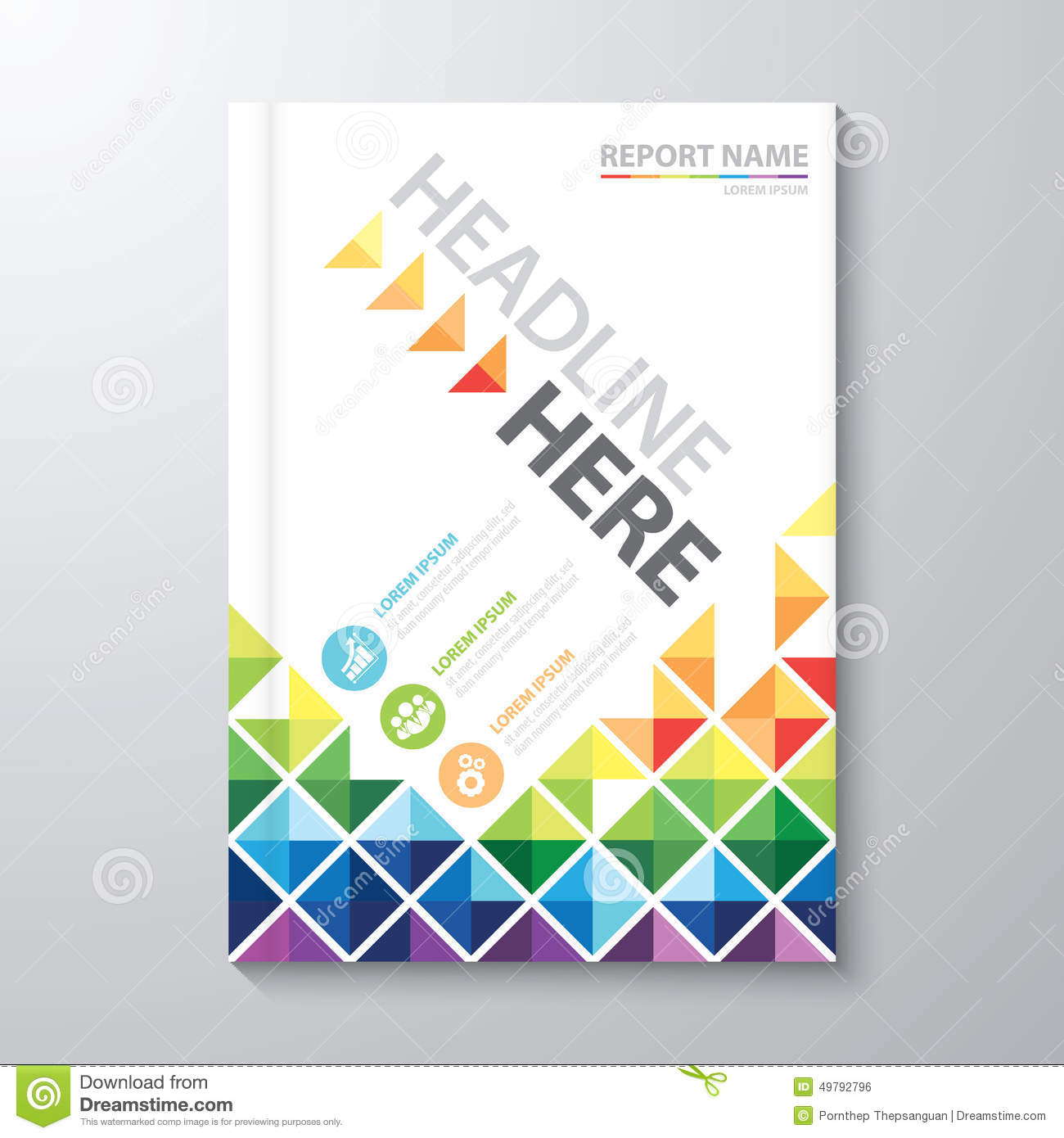 Cover annual report stock vector illustration of brochure for Book cover page design templates free download