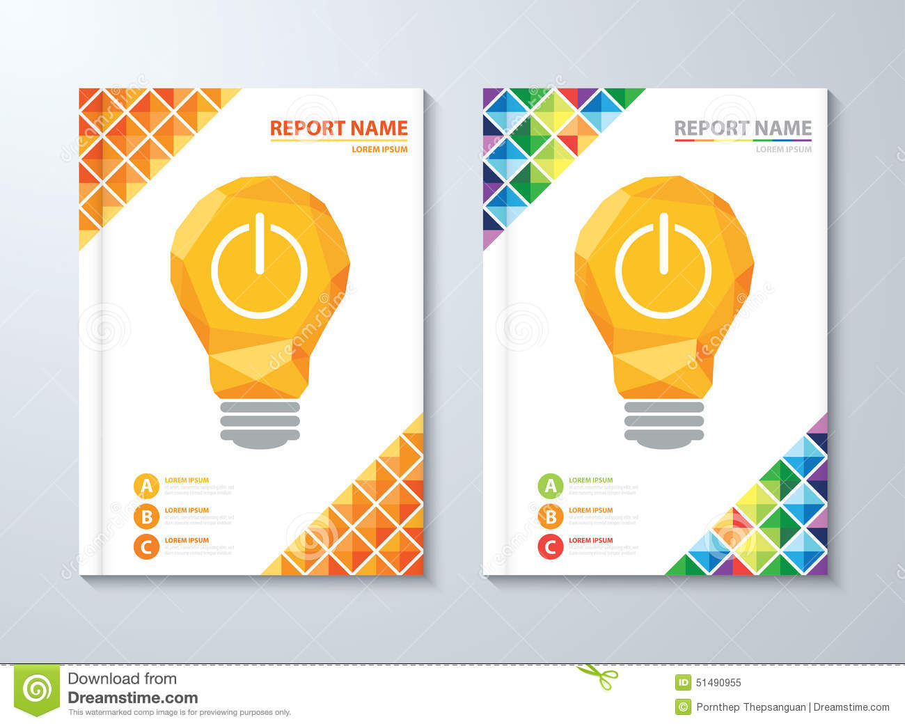 cover annual report stock vector  image of flyer  blank