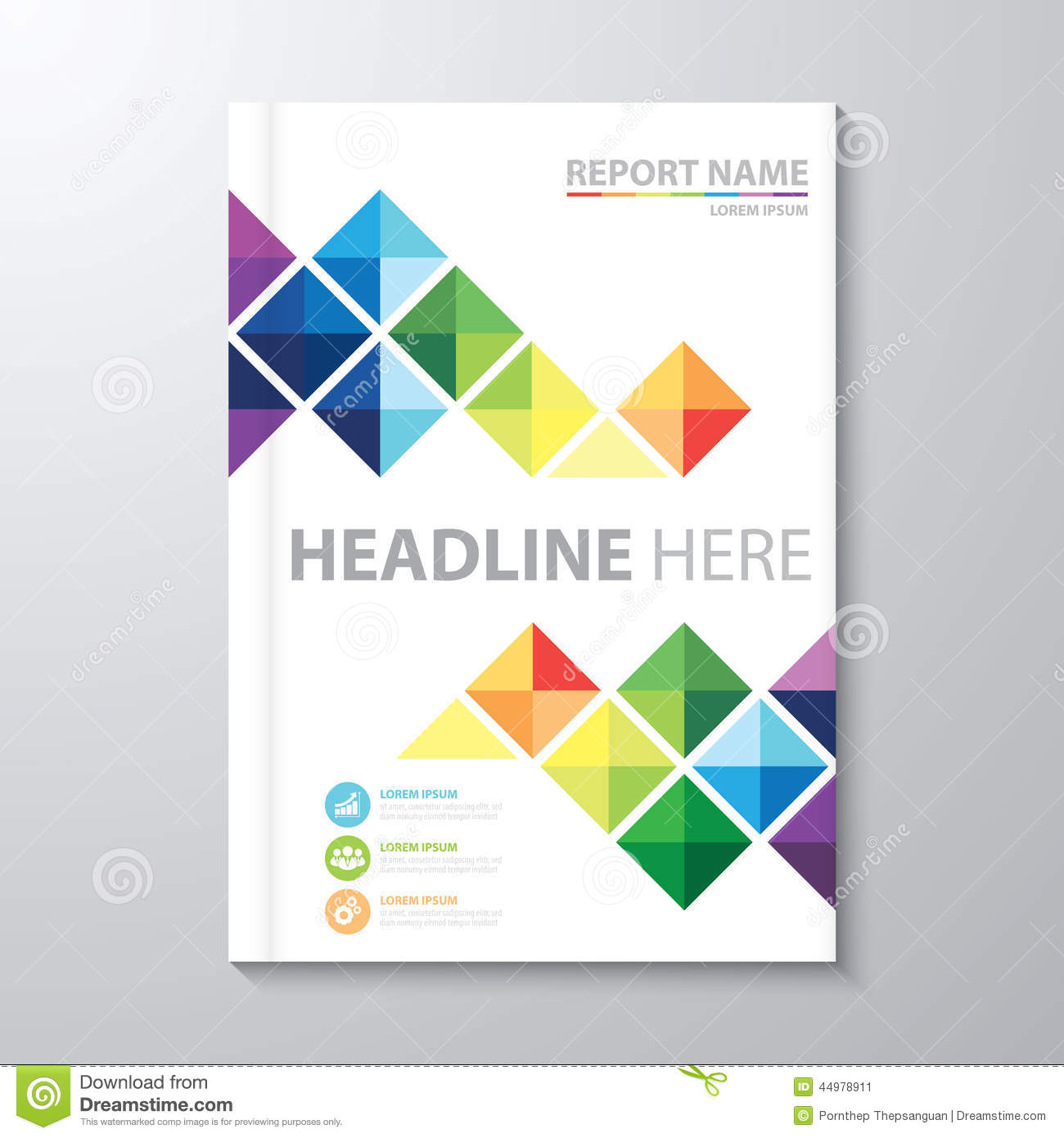Cover Annual Report Stock Vector Image 44978911