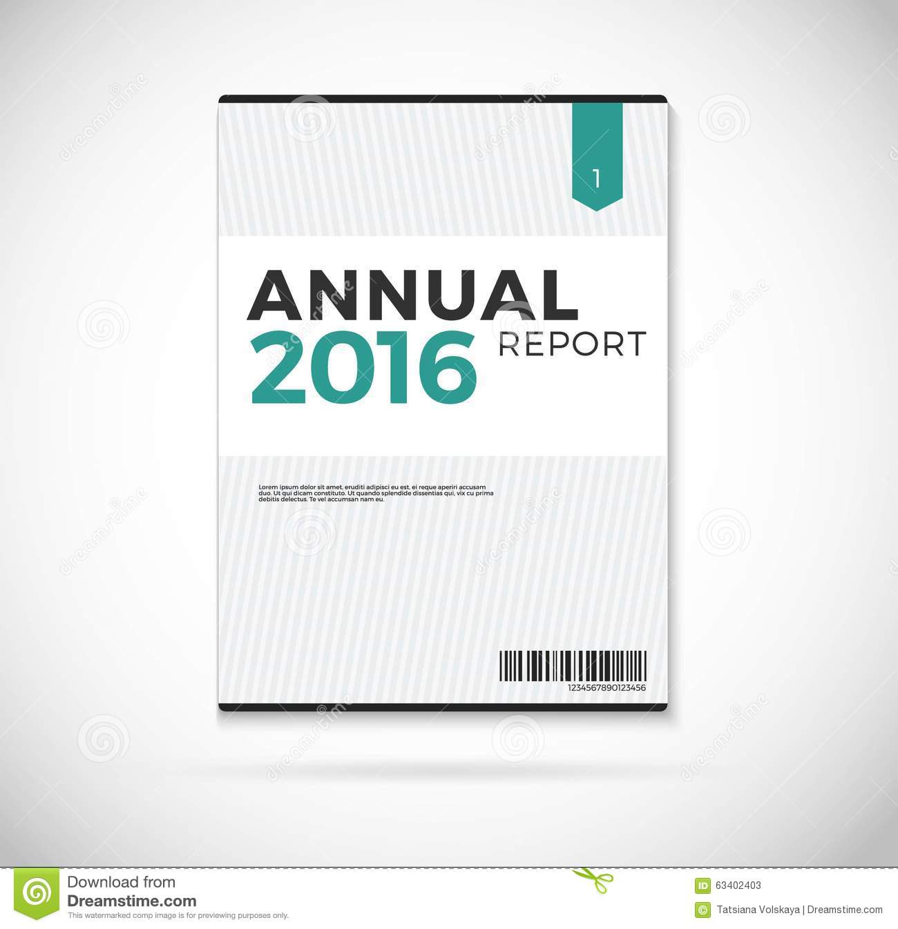 cover annual report 2016  design on blue background
